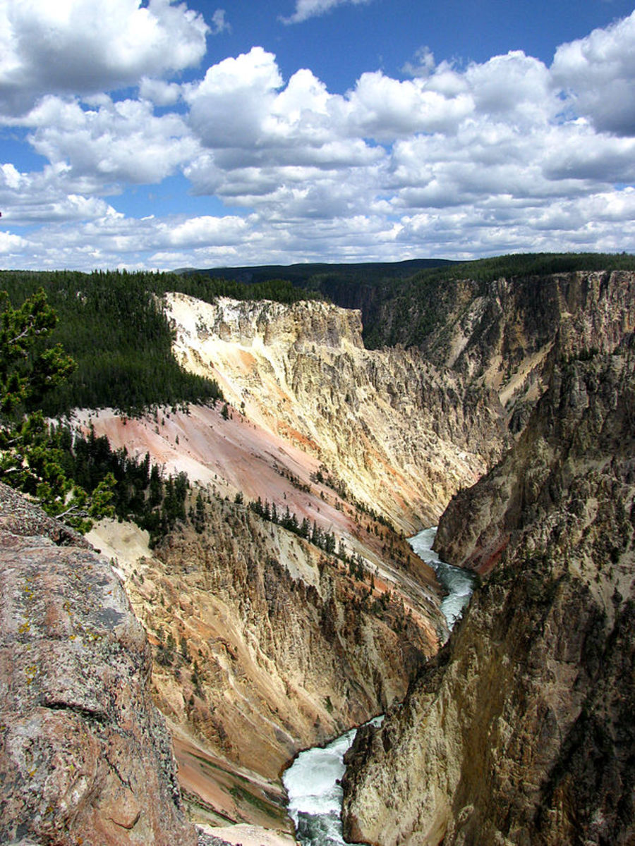 The Grand Canyon of the Yellowstone in Wyoming