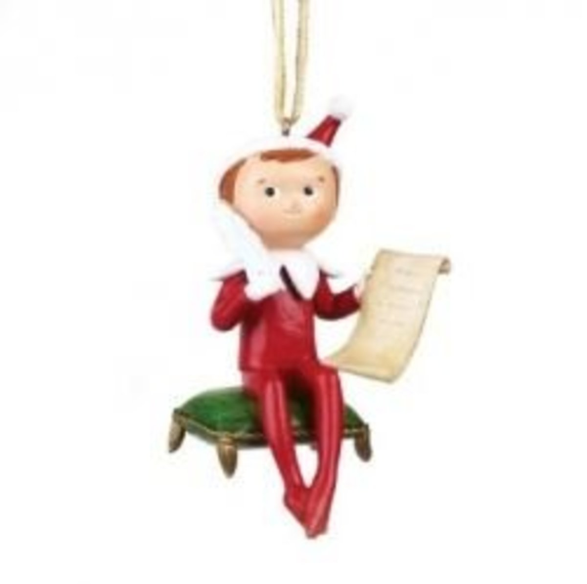 Decorate your Christmas tree with an Elf on the Shelf ornament.