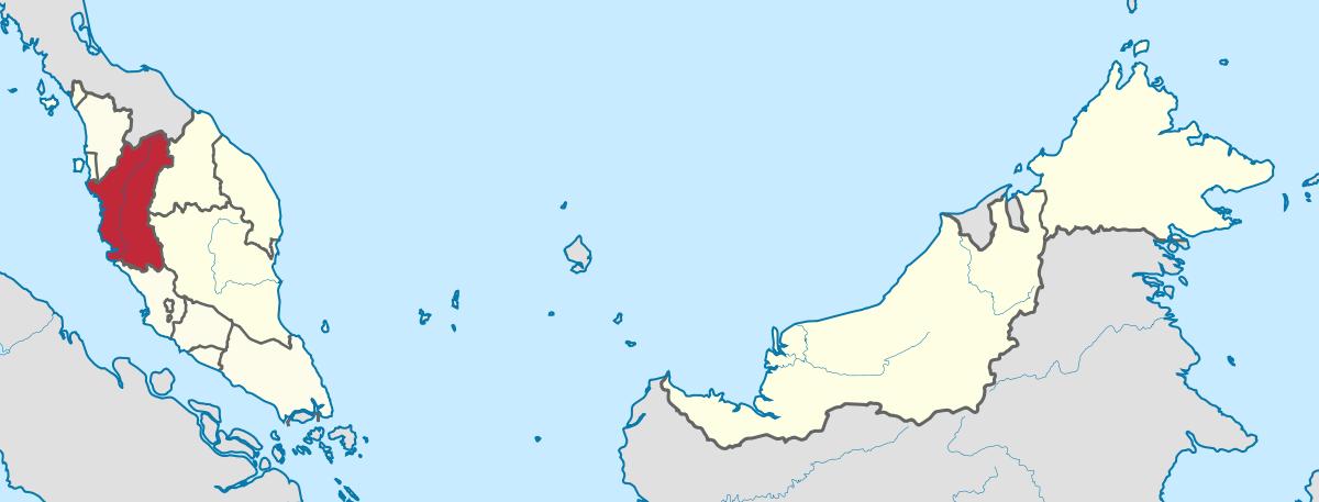 Location of Perak State in Malaysia.