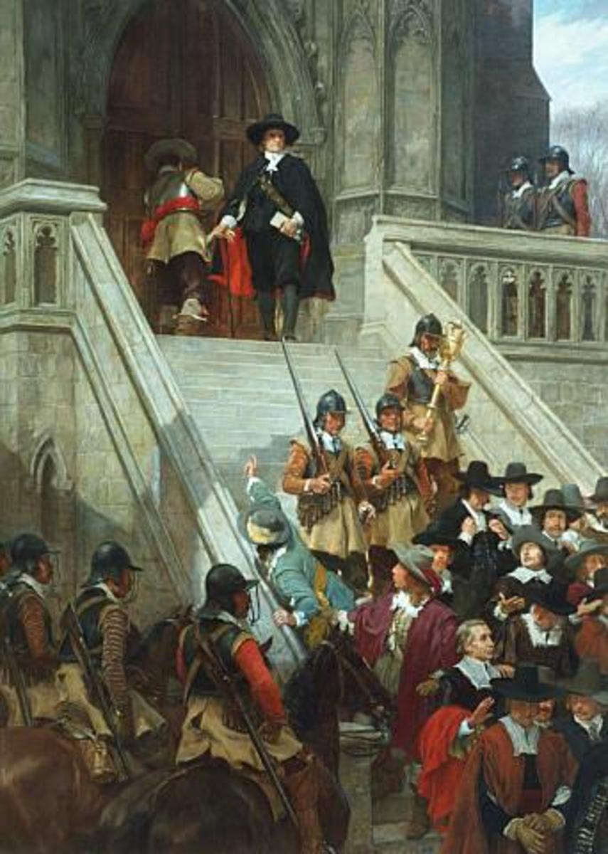 Cromwell dissolving The Long Parliament, by Andrew Carrick Gow.