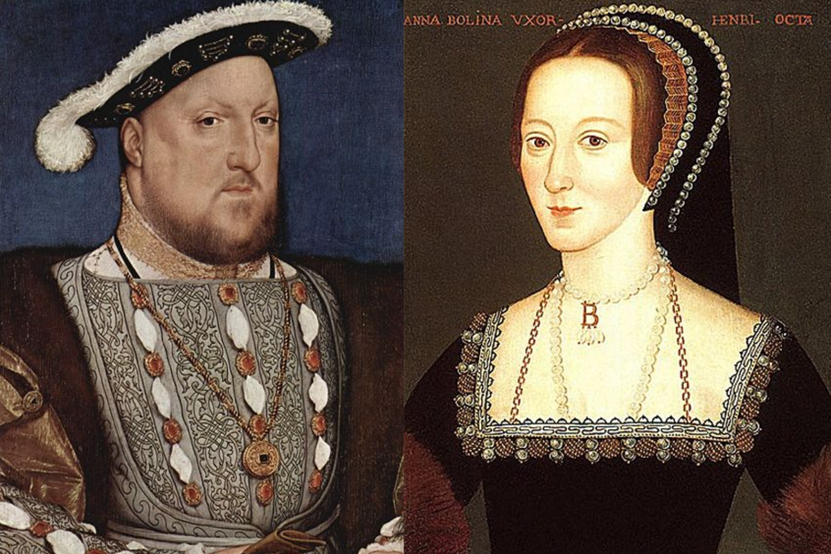 Henry the VIII and one of his wives, Anne Boleyn. Another great subject for a term paper on British history.