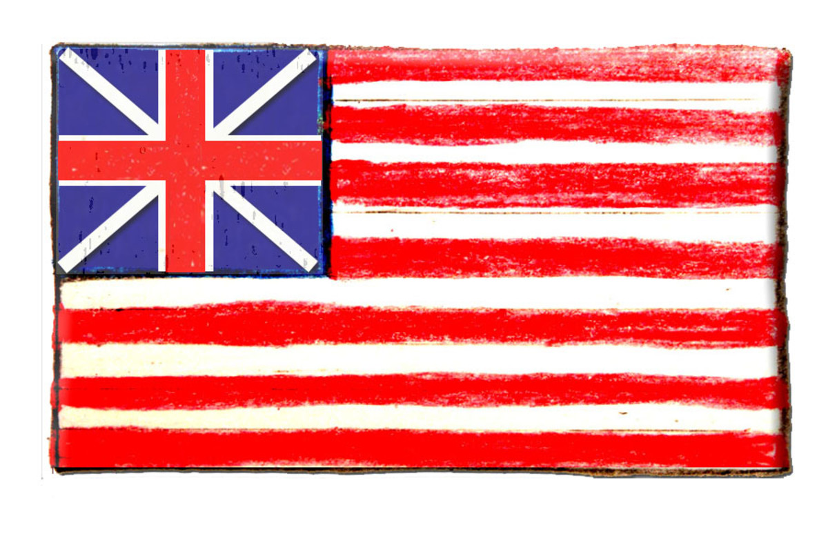 The Grand Union Flag was also called: Congress Colors; First Navy Ensign; and the Cambridge Flag.