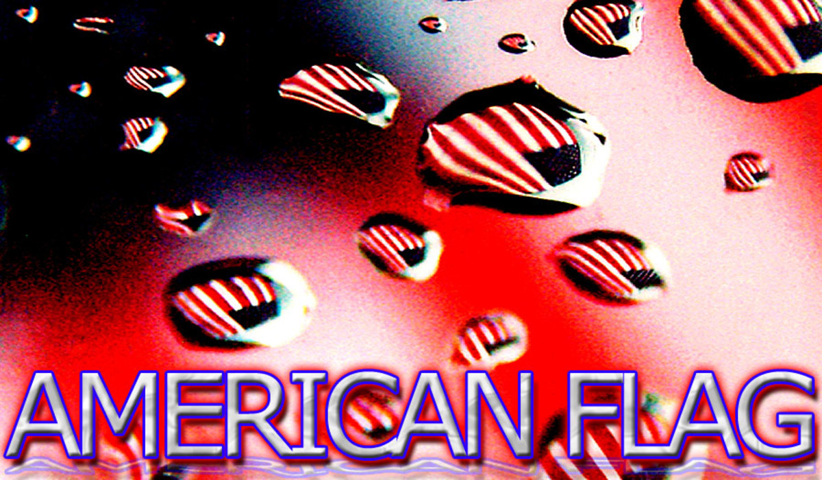 American Flag Droplets