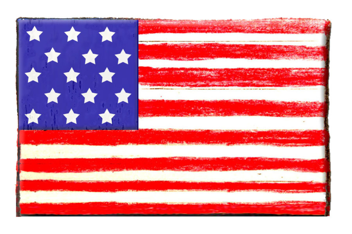 "This was the flag of the USA when Francis Scott Key  wrote ""The Star Spangled Banner""."