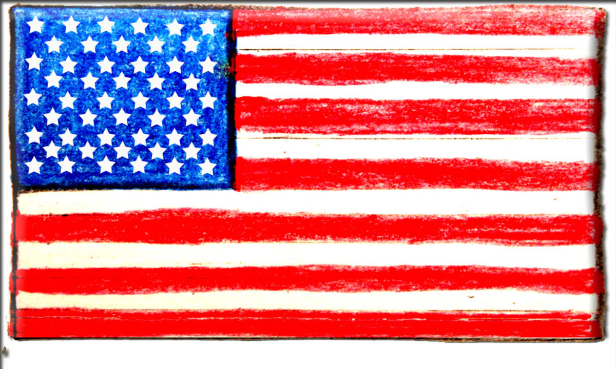 Fifty stars on a field of blue, 7 red stripes, 6 white stripes. This is what our current day American flag requires in its design. I wonder who will have the honor of being start #51on our flag's field of blue?