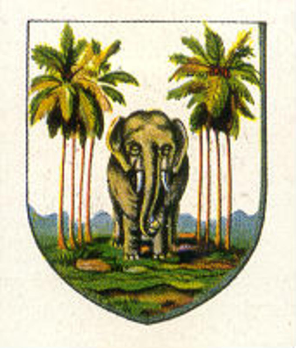 Public domain ~ copyright expired. See: http://en.wikipedia.org/wiki/File:Coat_of_arms_Ceylon_british_colony.jpg