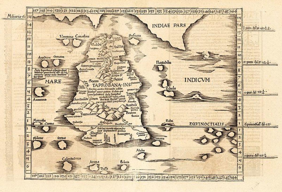 'Cosmographia Claudii Ptolomaei Alexandrini'. Public domain - out of copyright: 1535.