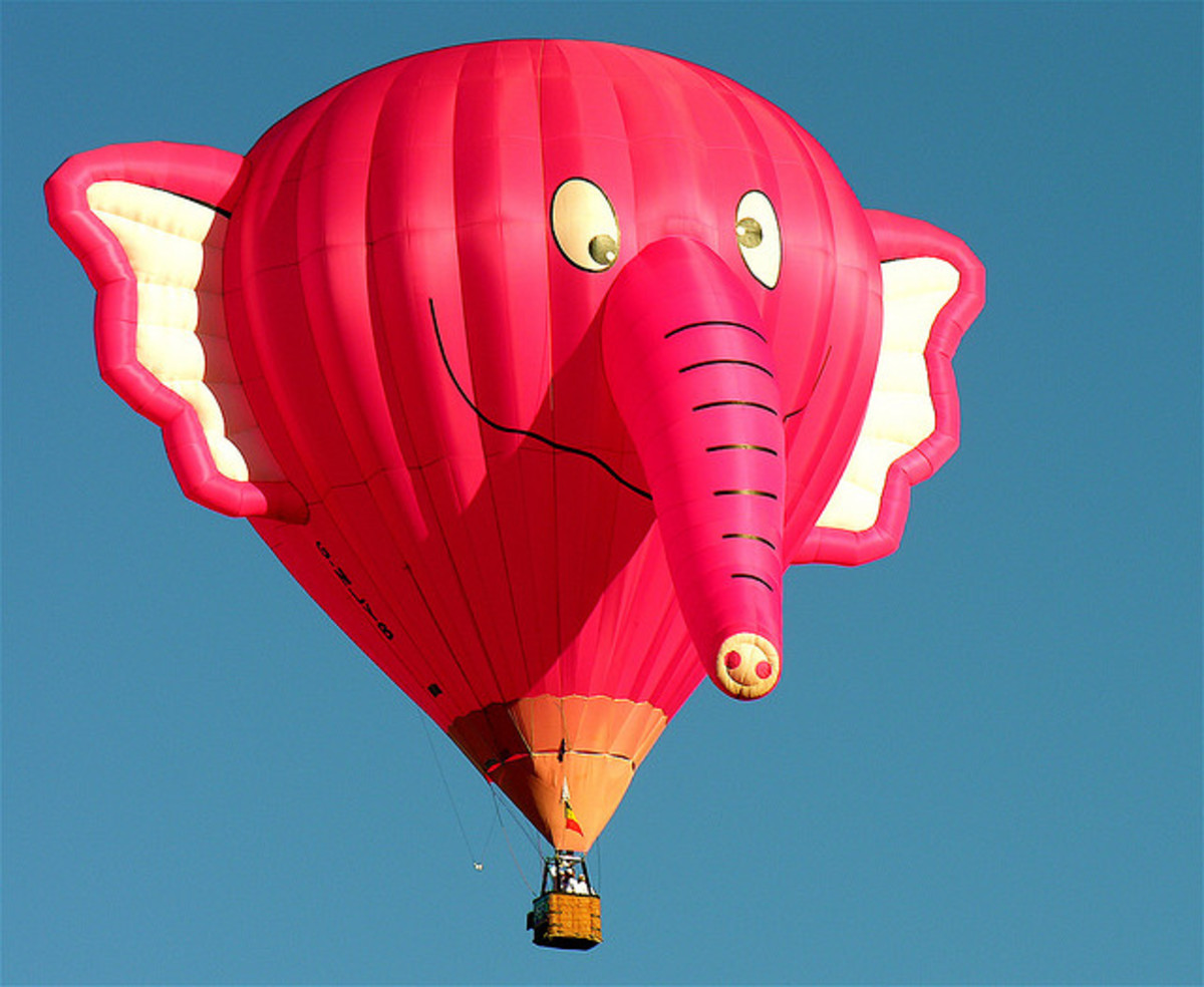 Pink Elephant Hot Air Balloon