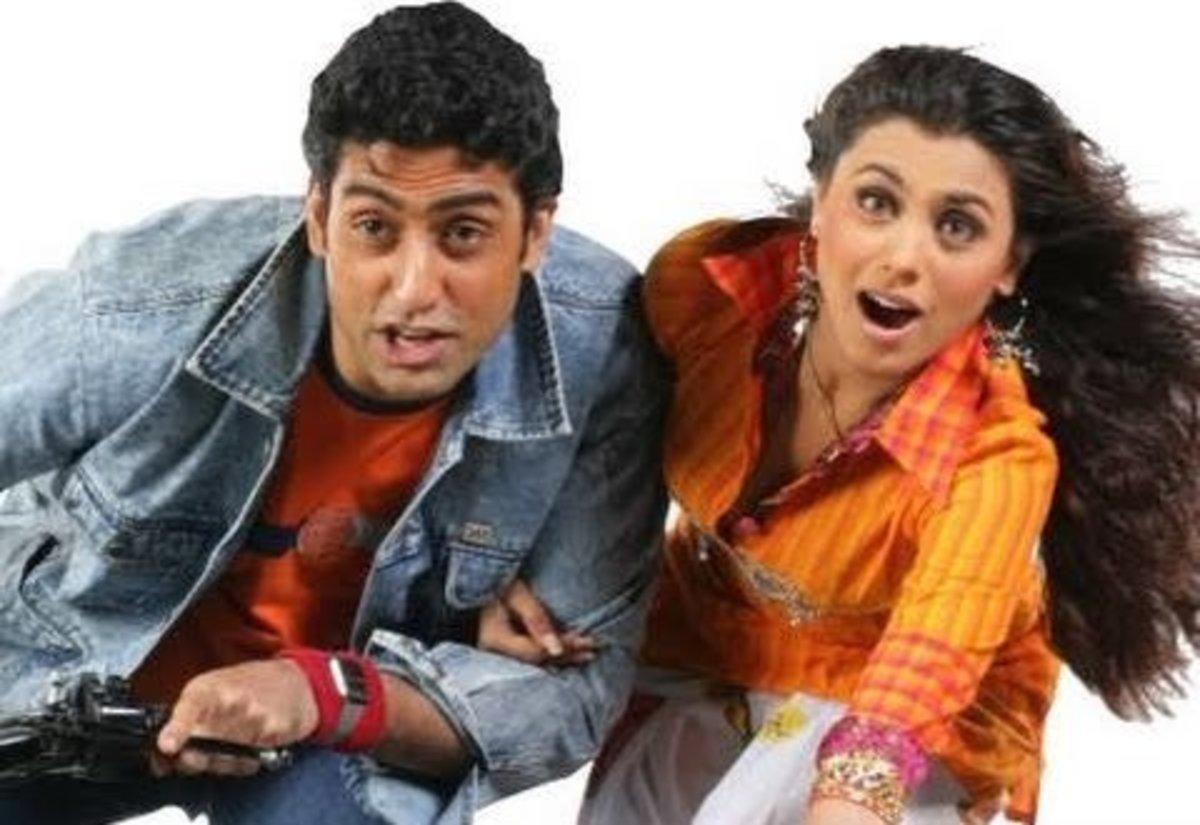 Rani Mukherji and Abhishek Bachchan in Bunty aur Bubli.