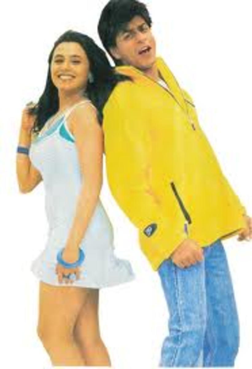 Rani Mukherji and Shahrukh Khan in Kuch Kuch Hota Hai.