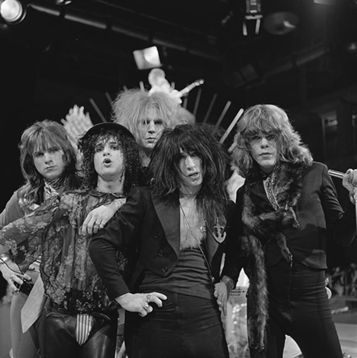 The New York Dolls were an important protopunk band which helped developed what became known as glam punk.