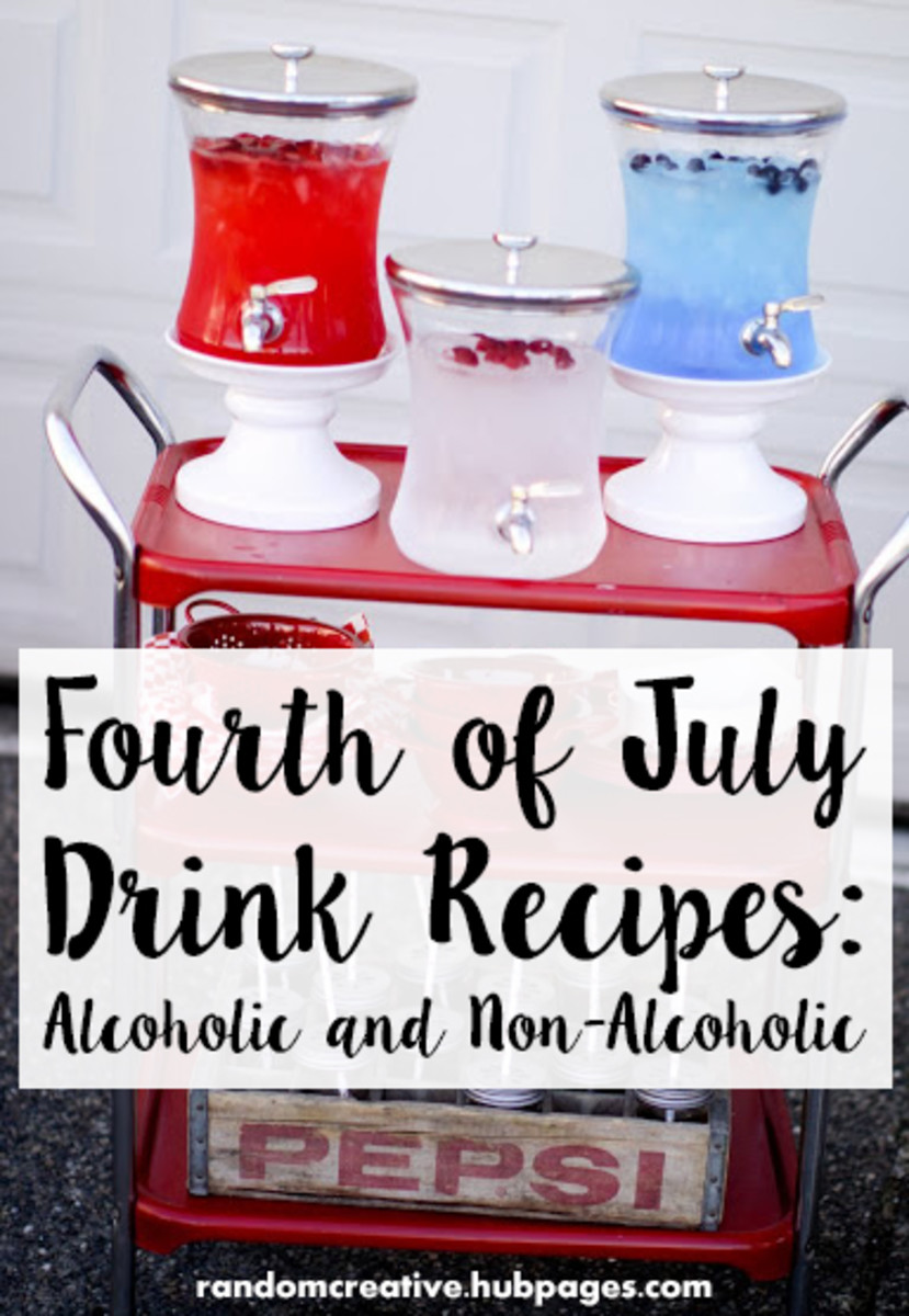 Fourth of July Drink Recipes: Non Alcoholic and Alcoholic