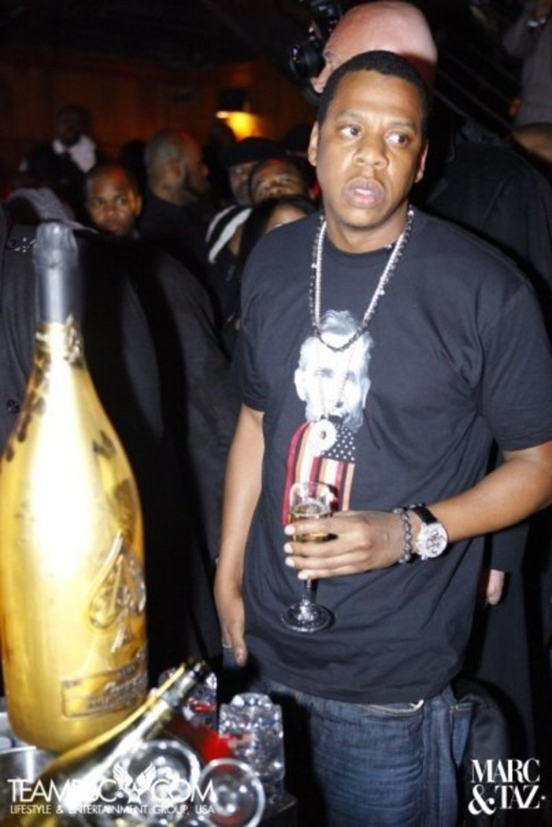 Jay Z with his brand Ace of Spades