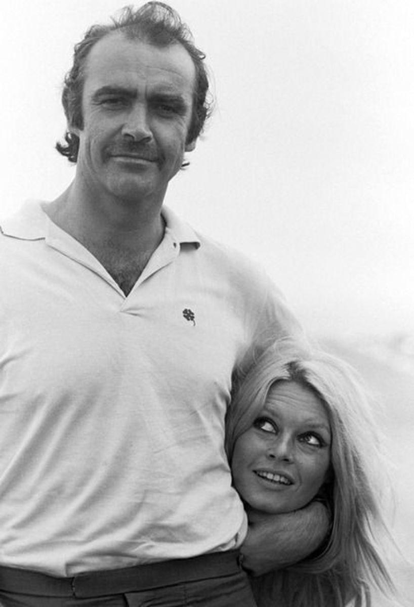 Sean Connery with Brigitte Bardot.