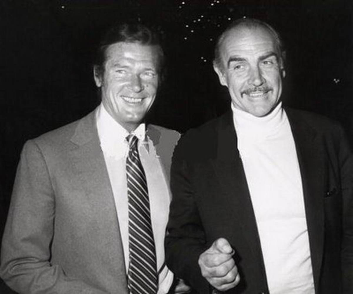 Roger Moore with Sean Connery