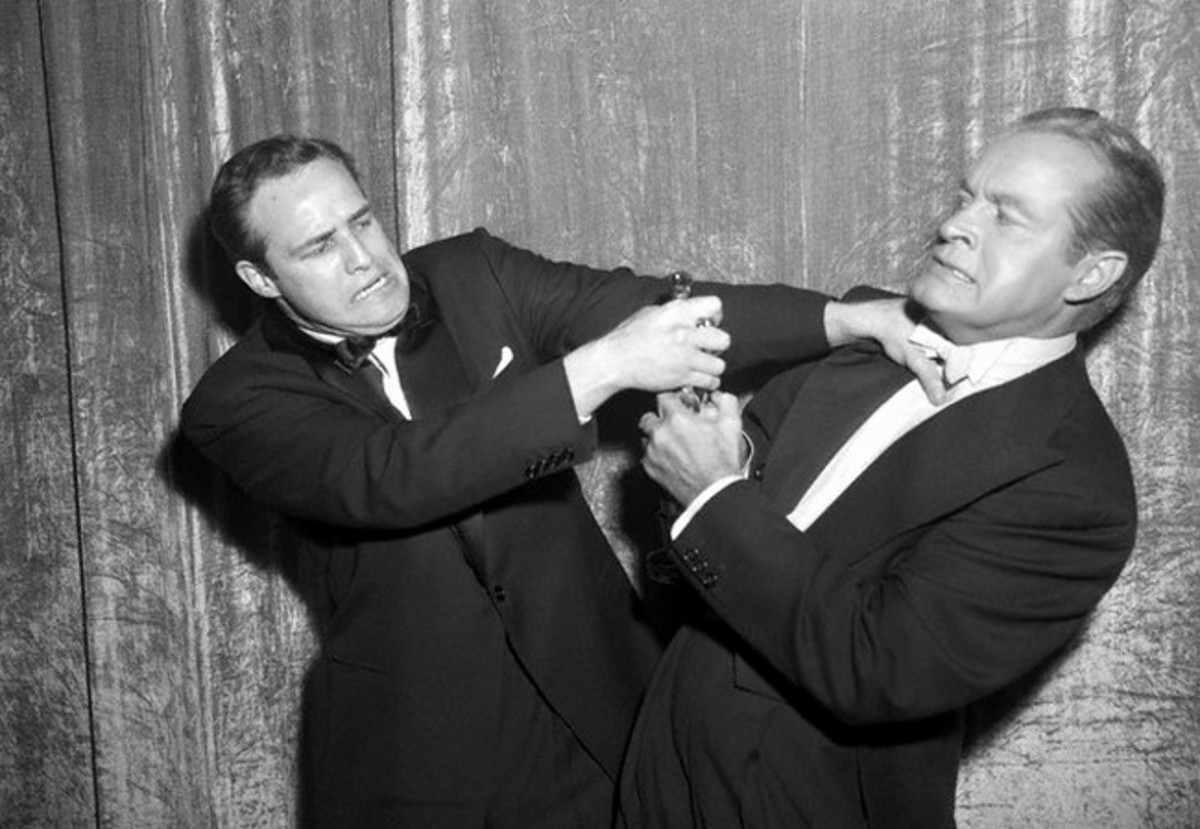 Marlon Brando with Bob Hope