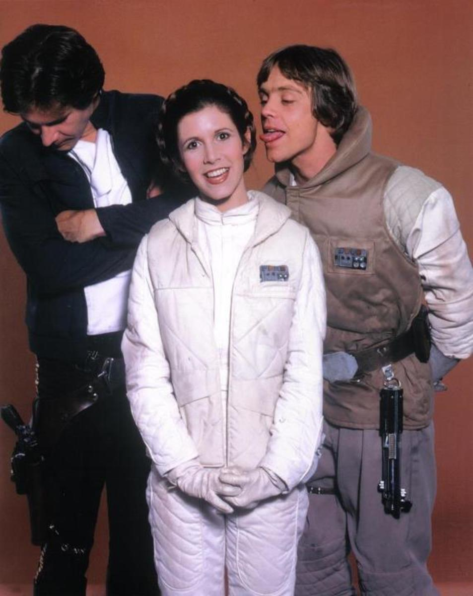 Harrison Ford, Carrie Fisher and Mark Hamill.
