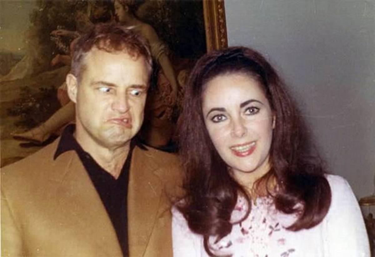Marlon Brando with Elizabeth Taylor