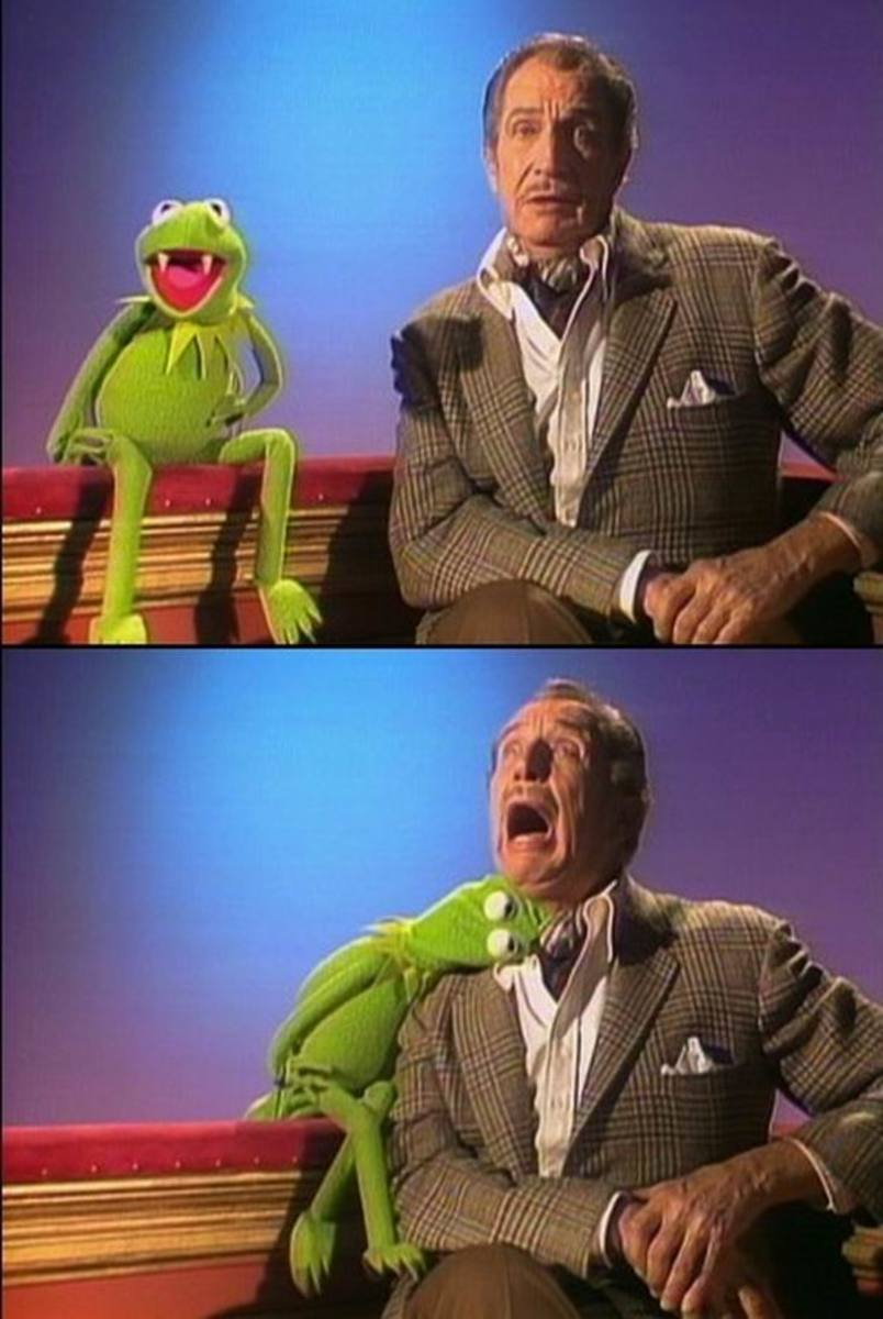 Vincent Price and Kermit the Vampire Frog