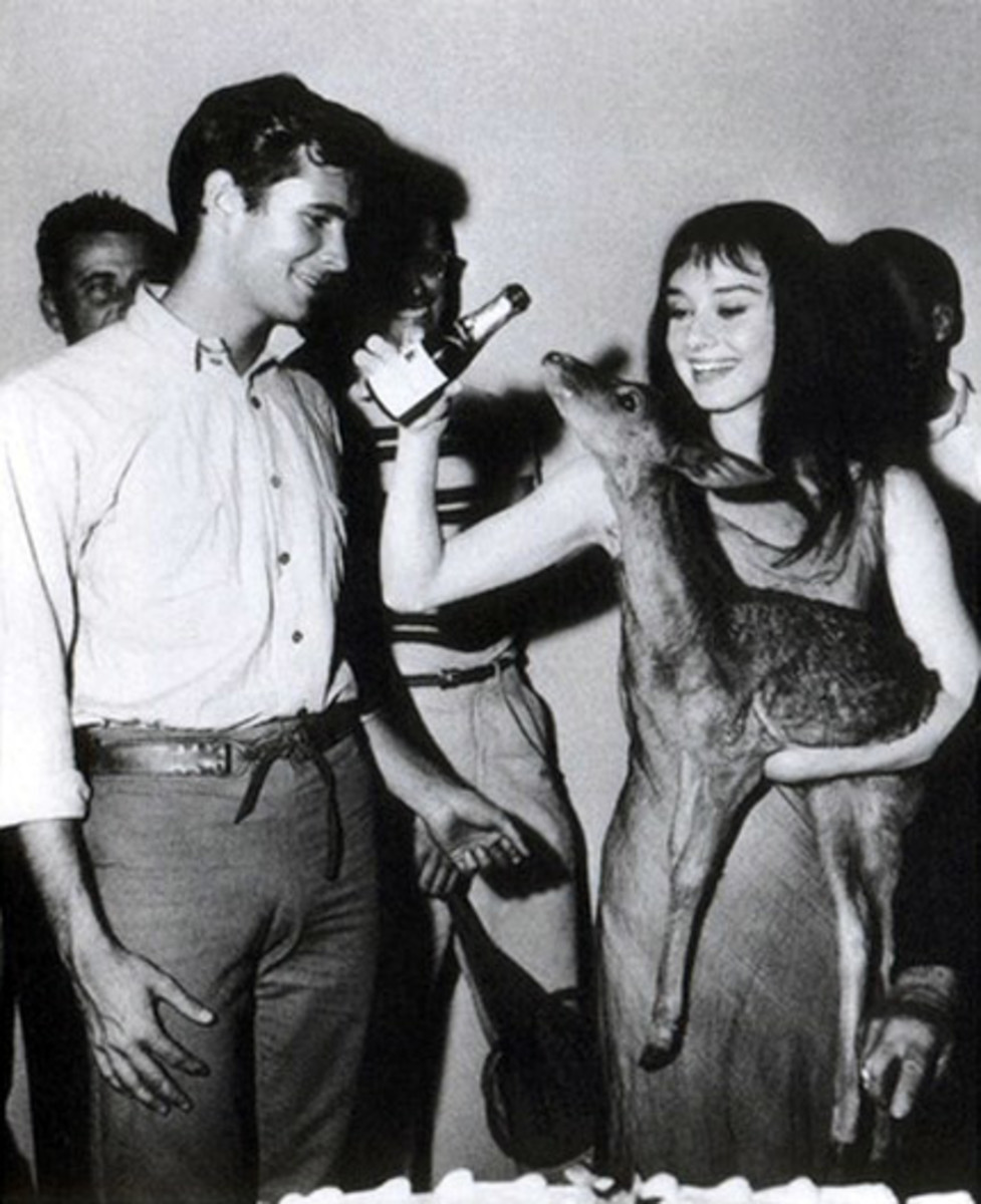 Anthony Perkins with Audrey Hepburn
