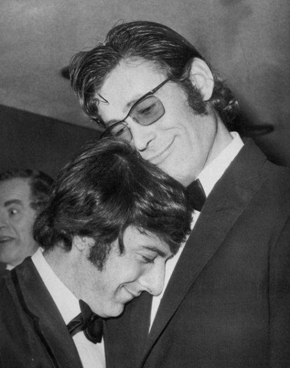 Dustin Hoffman with Peter O'Toole