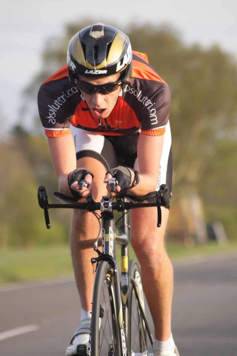 Cycling Images can convey emotion and suffering of the lone rider racing a time trial event consider photographing from low down to focus on the riders' face. Shutter speed 1/400 sec and, f 5.6 Iso 400