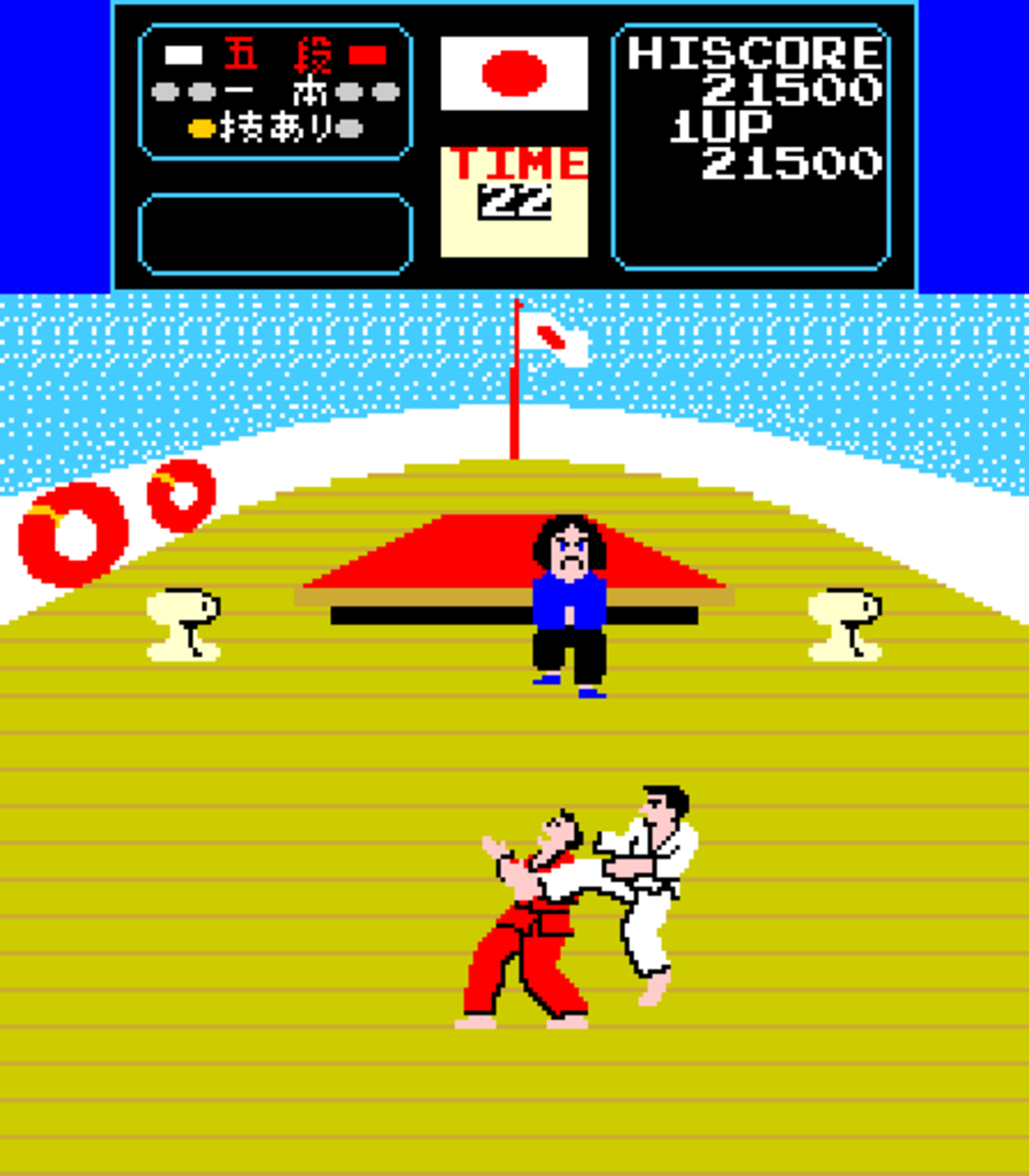 Ooohh I bet that hurt... Karate Champ
