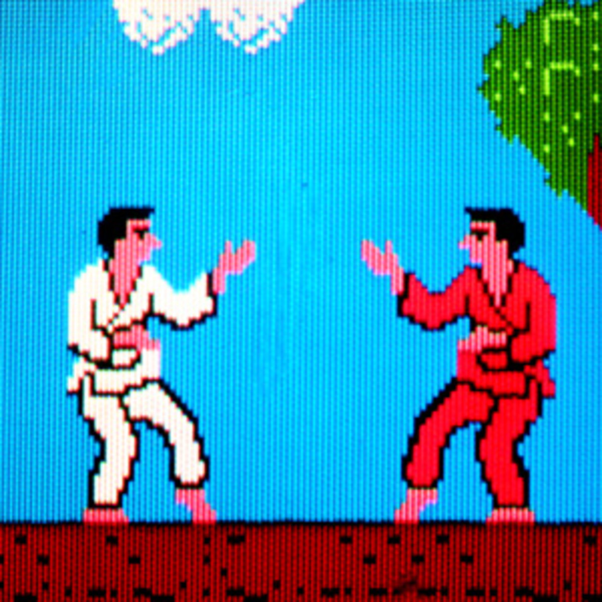 Player One Wore the White Gi in Karate Champ
