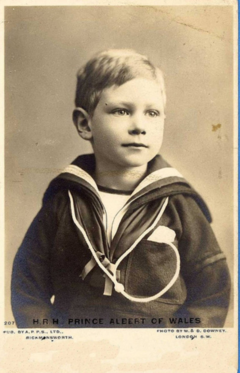 "A young George VI when he was still ""Prince Albert"""