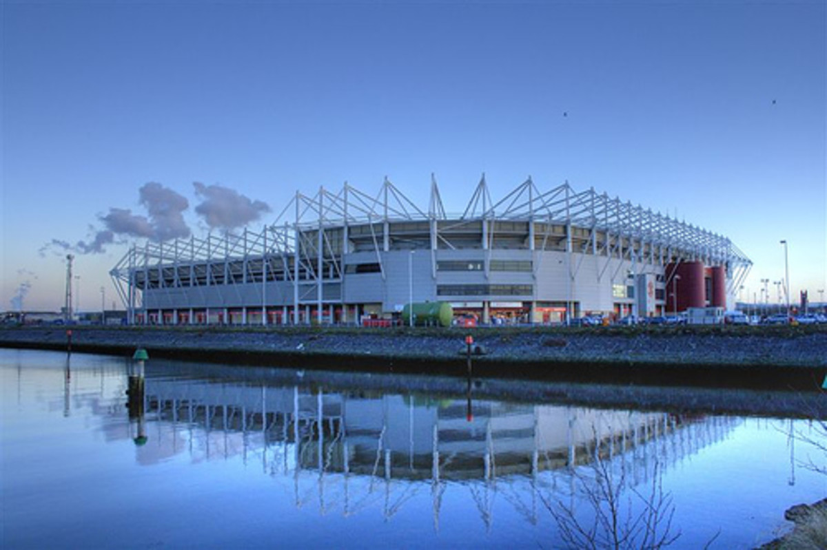 The Cellnet Riverside Stadium - Middlesbrough FC's home turf where the docks once were