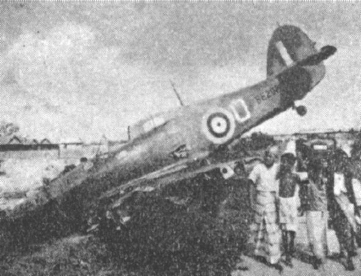 While the British were able to thwart the Germans at the Battle of Britain. The obsolete RAF fighters stationed in Malaya such as the Hurricane (pictured) proved no match for the modern Japanese air force.