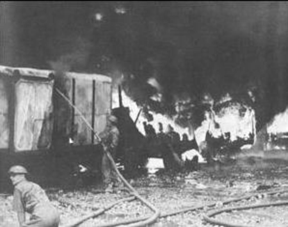 The relentless bombardment by the Japanese literally bought Singapore City to its knees.