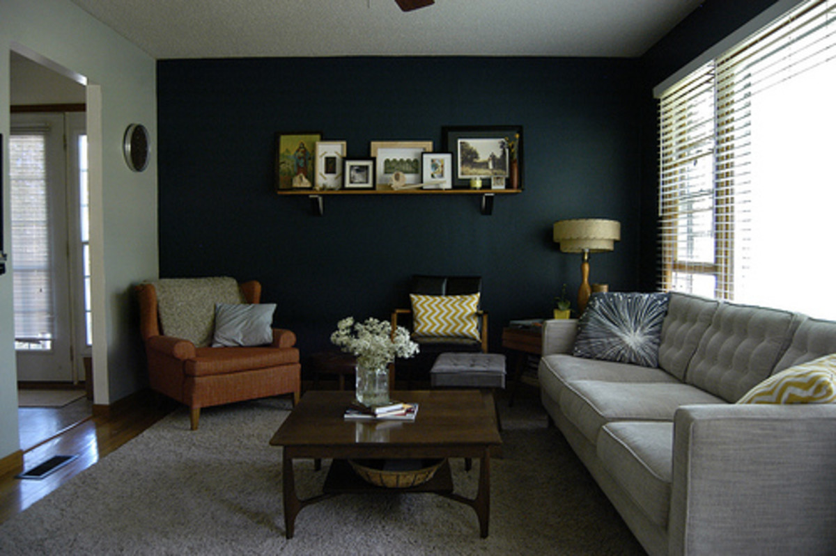 Add impact by painting an accent wall.