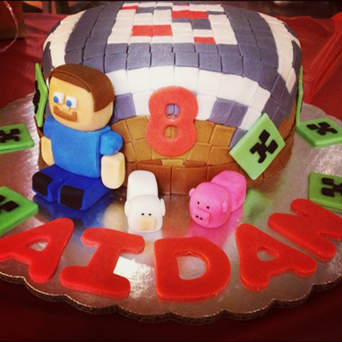 Minecraft Block Cake