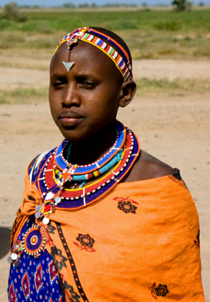 Maasai woman with ornaments
