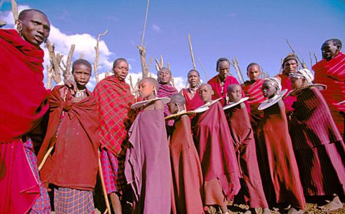 Teenage girls during one of the Maasai rituals