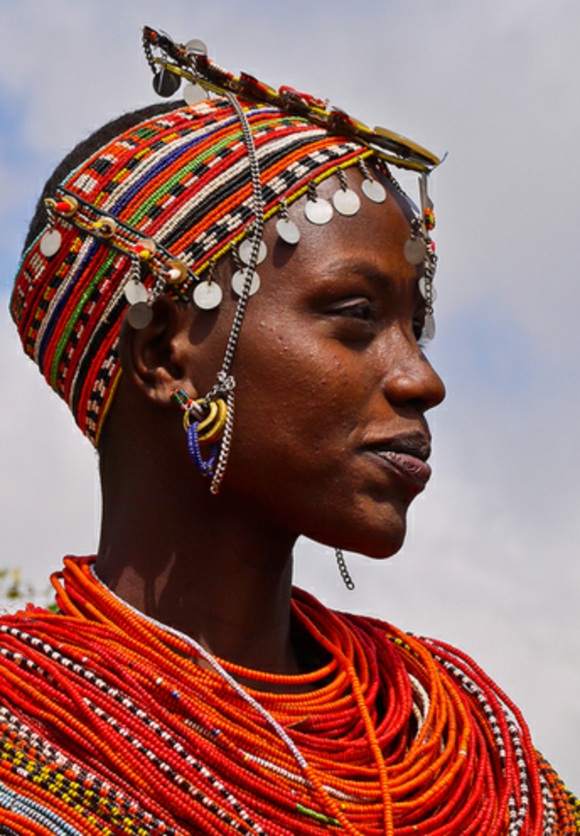 Maasai women love beads ornaments