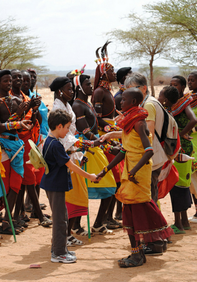 Maasai people welcoming tourists visitors. Maasai love visitors.