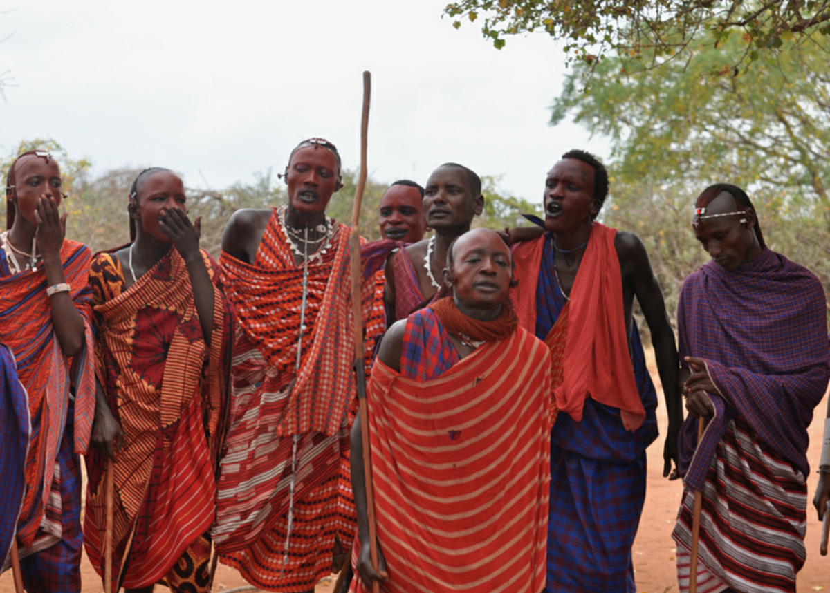 A group of Maasai morans