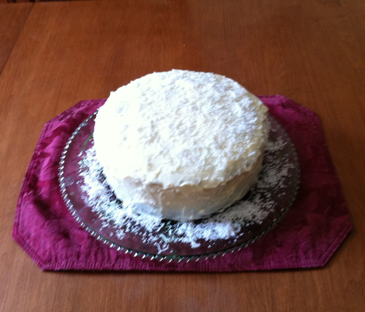 Carrot Cake with Cream Cheese and Coconut Frosting