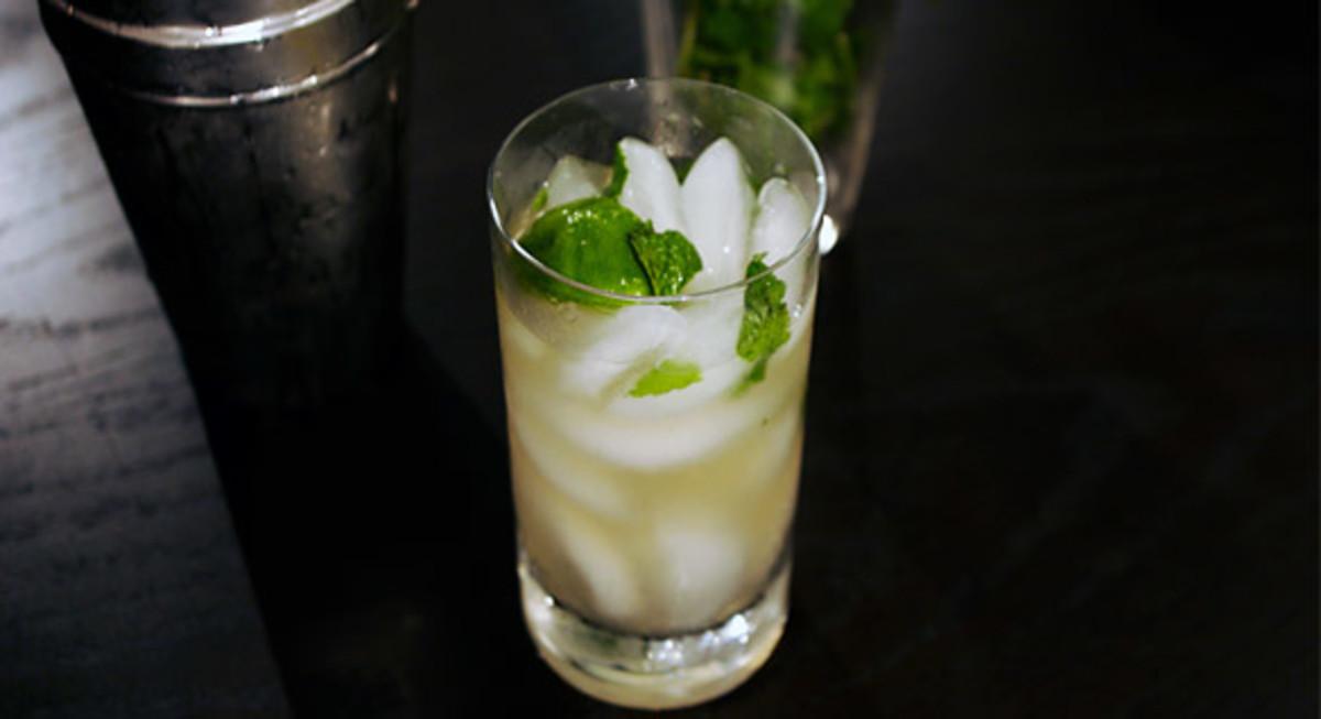 Cocojito- non alcoholic mojito made of coconut water.