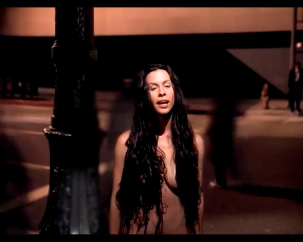 Alanis Morissette in same video.