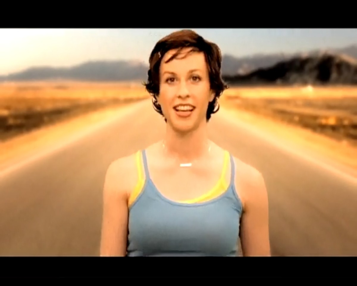 Alanis Morissette in video 'Everything' below.