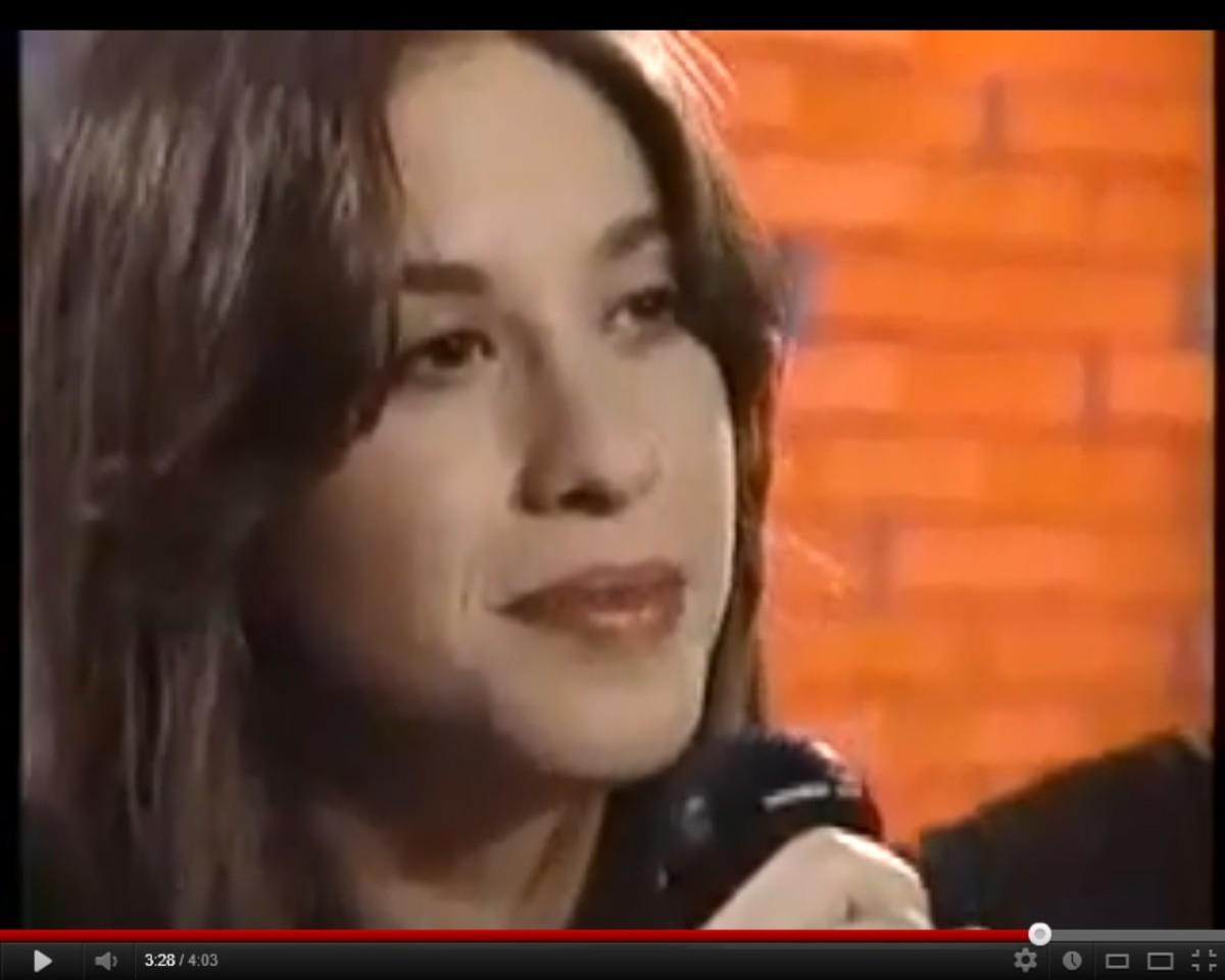Alanis Morissette in video below-- Hand in My Pocket