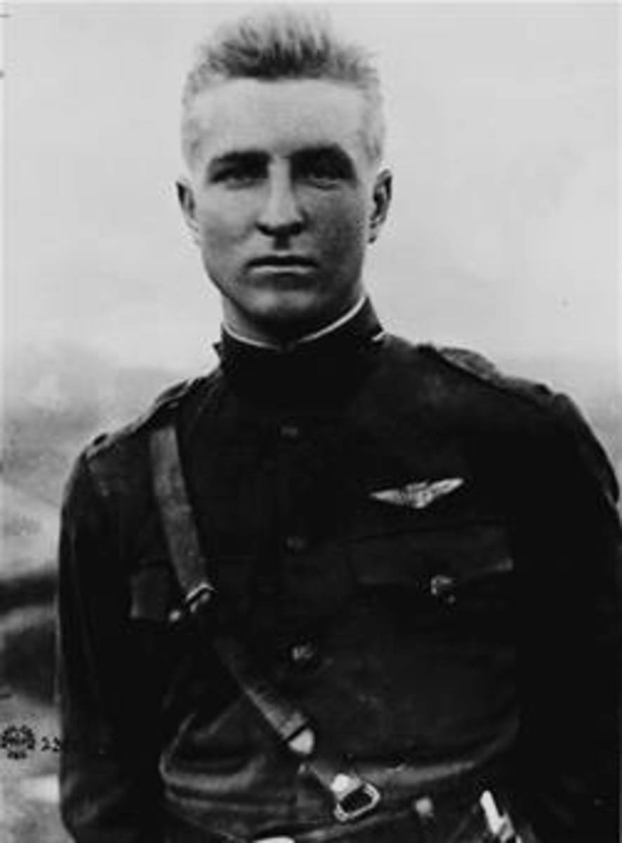 "Luke AFB in Arizona is named for this ""balloon buster"", who, like Eddie Rickenbacker, was fighting the nation of his ancestry."