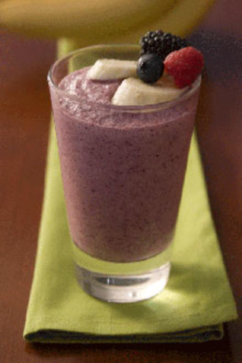 Here We Have A Berry Berry Banana Smoothie