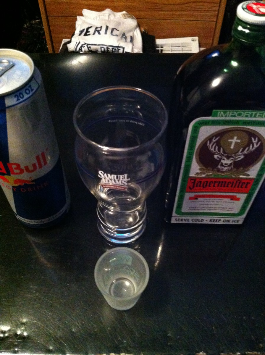 How to Prepare a Jager Bomb - with Red Bull and Jagermeister