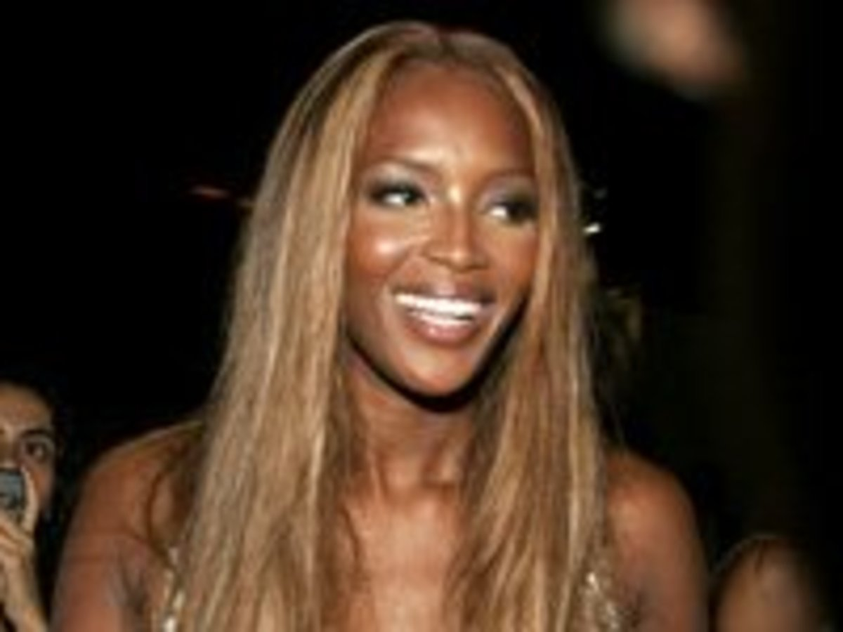 Naomi Campbell in a Blonde Weave