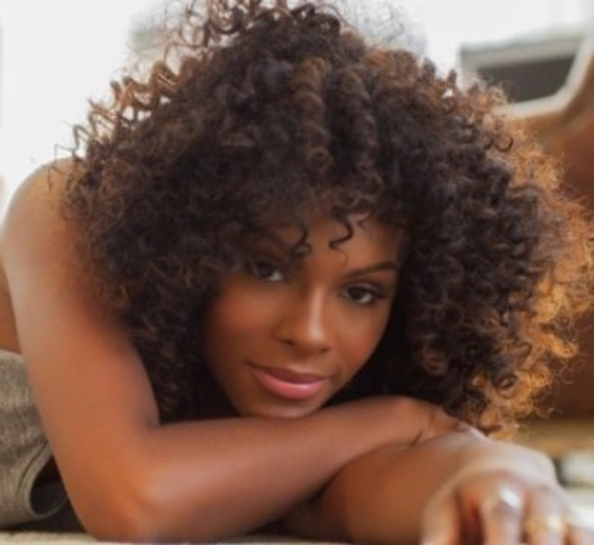 Tika Sumpter with loose ringlets