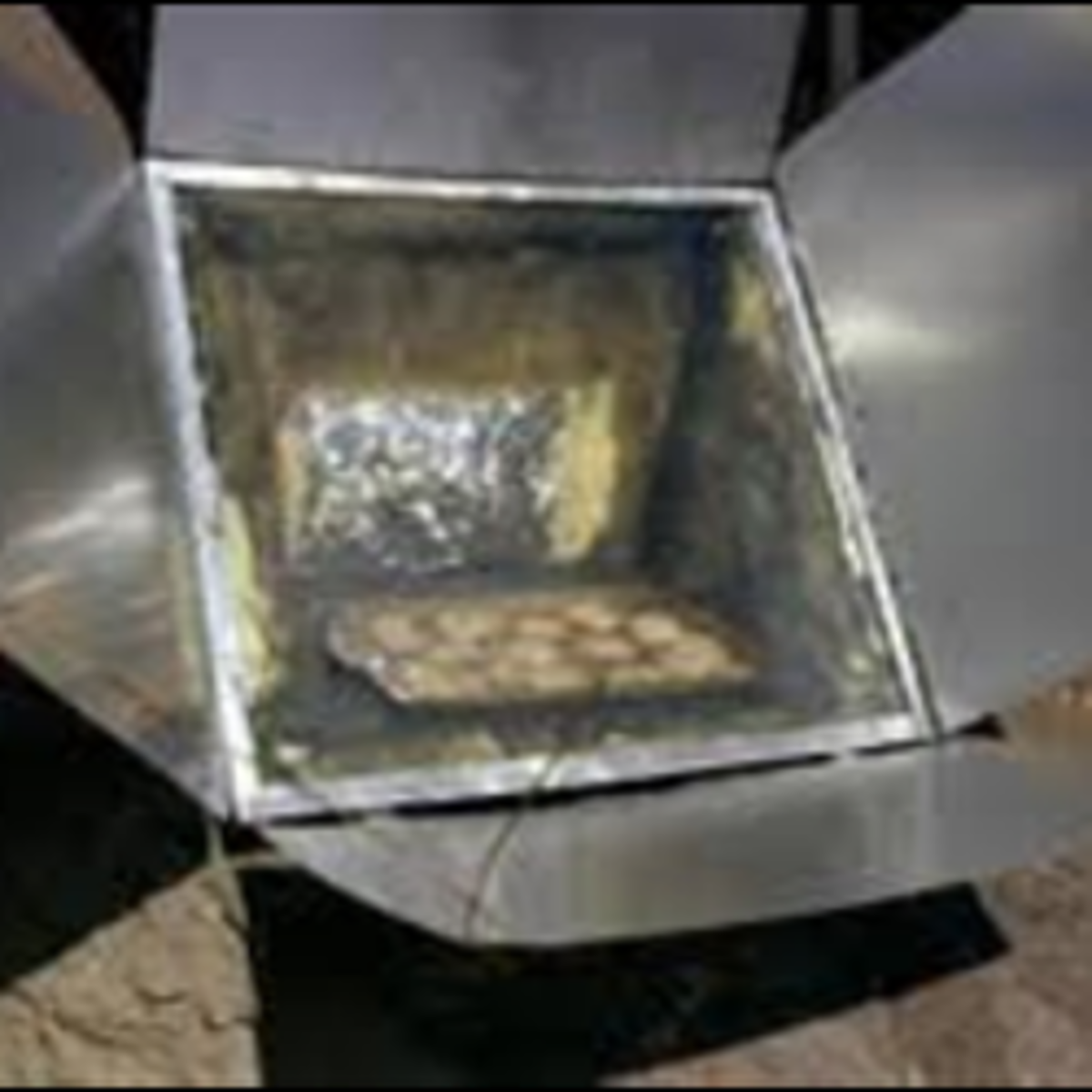 Solar Box Cooker with Added Reflectors